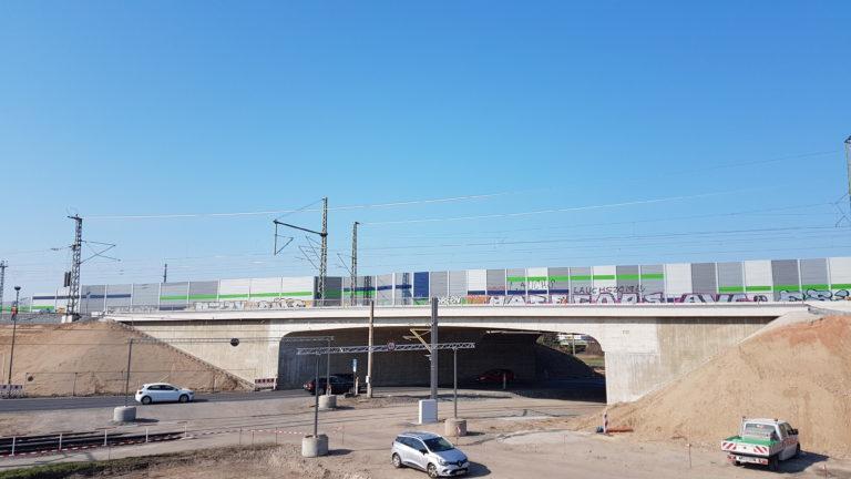 Neue Verbindungskurve an der Stadtgrenze Radebeul/Coswig