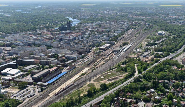 Railway Junction in Magdeburg