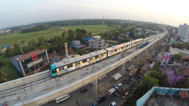 Testfahrt der Metro Kochi