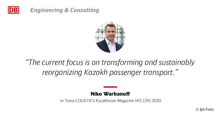 Niko Warbanoff´s interview in Trans-Logistics Kazakhstan Transport Business Magazine 2/2020