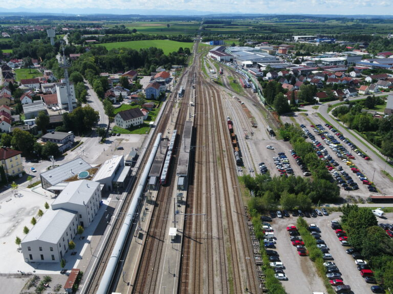 line upgrade 48 multicopter image 4 - central station Buchloe, Germany from above