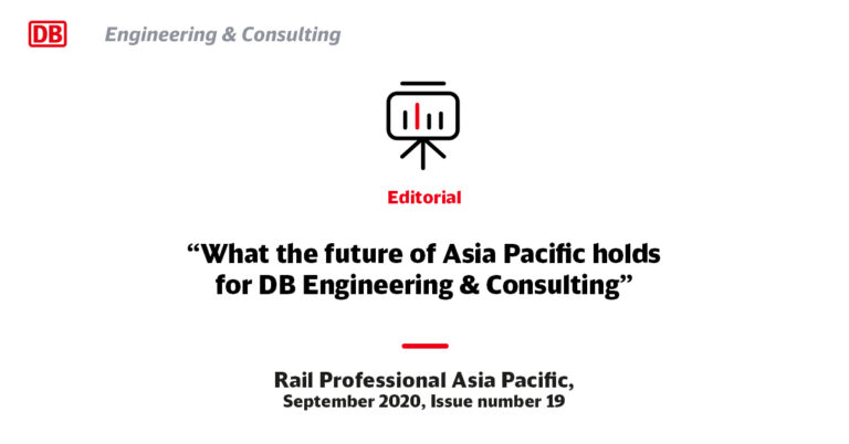 Rail Professional Asia Pacific Editorial September 2020