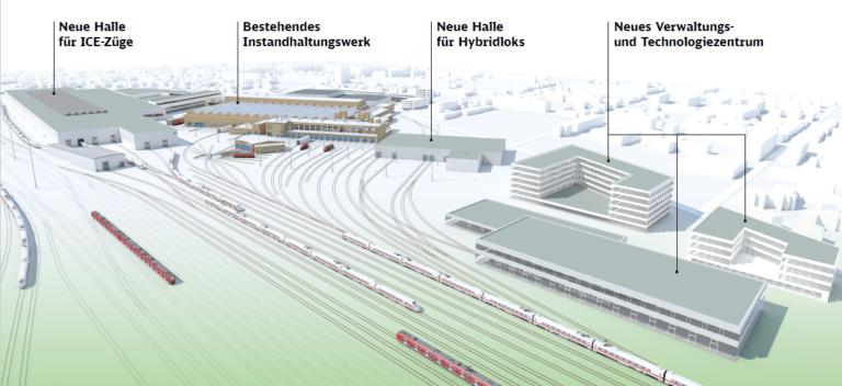 """Umweltfreundlich, groß und modern: Die Planung des """"grünen"""" Instandhaltungswerks in Cottbus"""