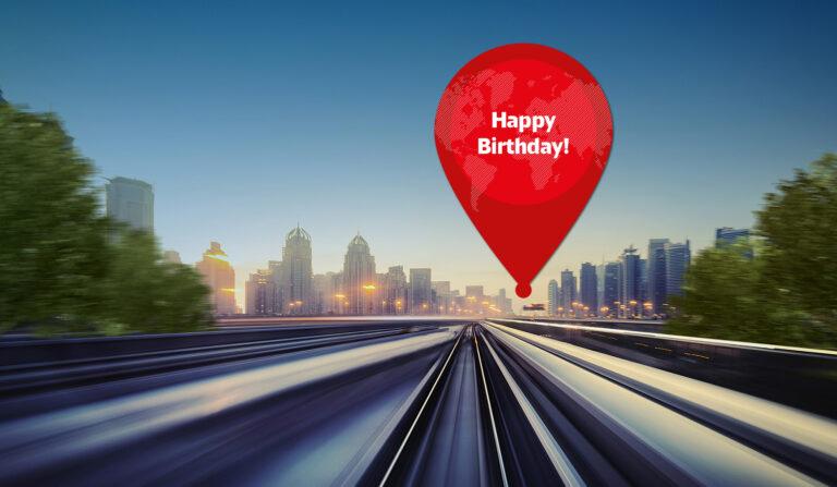 Europäisches Jahr der Schiene - Happy Birthday