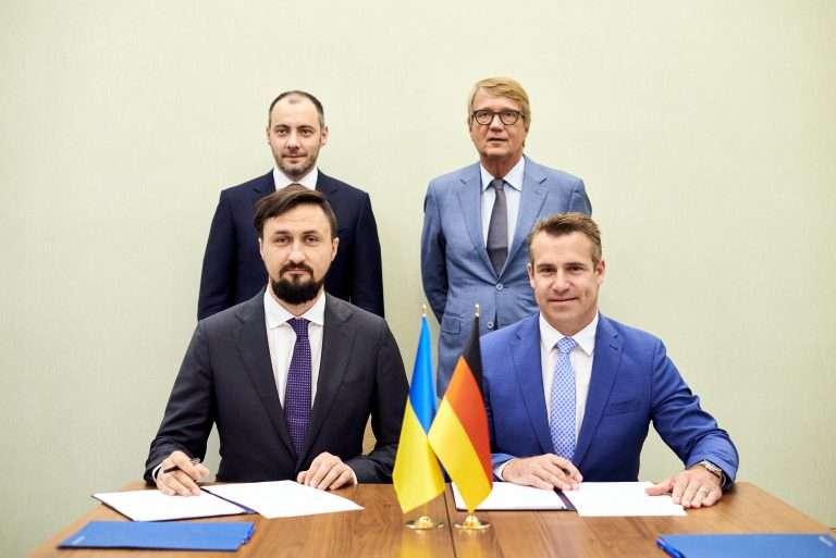Ukrainische Eisenbahn: Vertragsunterzeichnung, August 2021