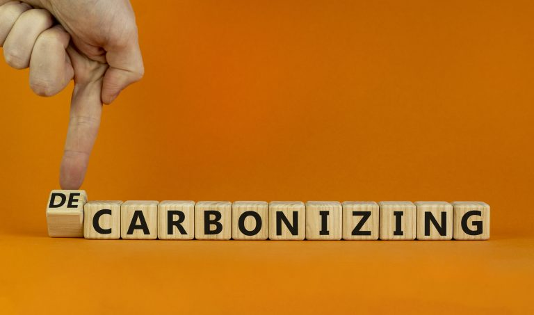 Symbol für Dekarbonisierung oder Karbonisierung