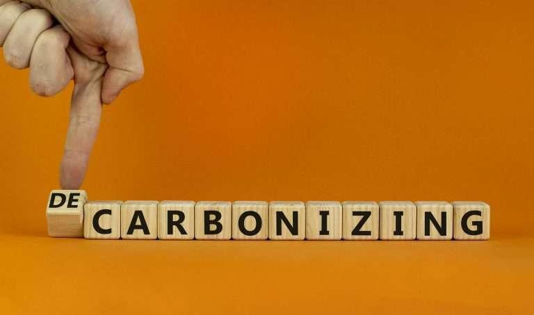 Decarbonizing or carbonizing symbol